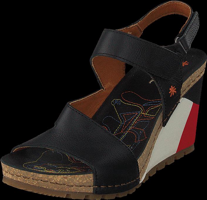 Footway SE - Art Guell Black, Skor, Klackskor, Lågklackade sandaletter, Svart, Dam, 37 1047.00