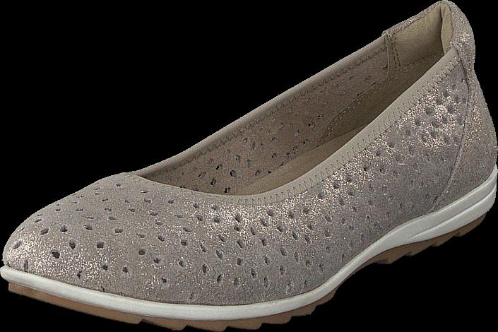 Duffy 92-26437 White, Schuhe, Flache Schuhe, Ballerinas, Weiß, Female, 36