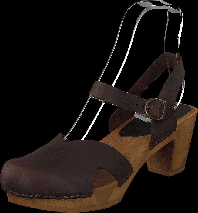 Sanita Clogs Matrix Ant.brown, Sko, Pumps & Høyhælte, Tresko med lave hæler, Brun, Dame, 39