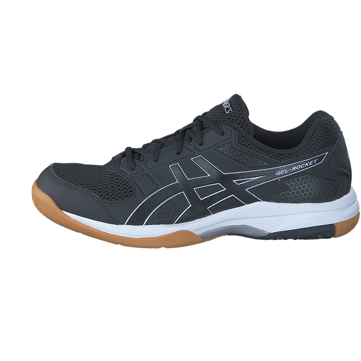 acheter asics gel rocket 8 black black white noires chaussures online. Black Bedroom Furniture Sets. Home Design Ideas