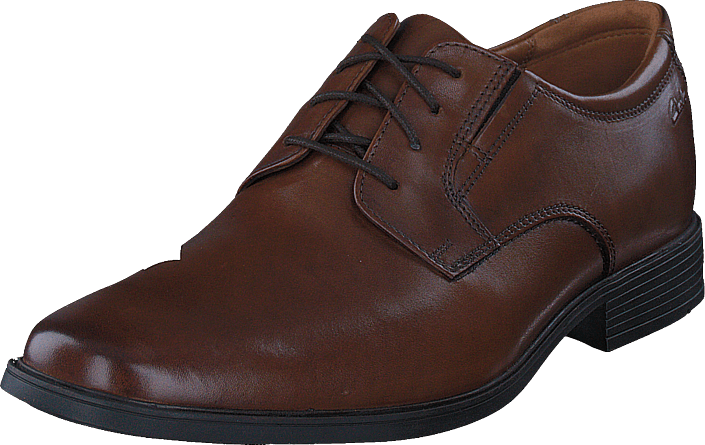 Clarks - Tilden Plain Dark Tan Lea