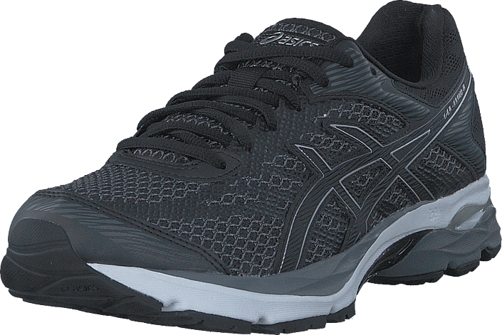 k p asics gel flux 4 black black silver gr a skor online. Black Bedroom Furniture Sets. Home Design Ideas
