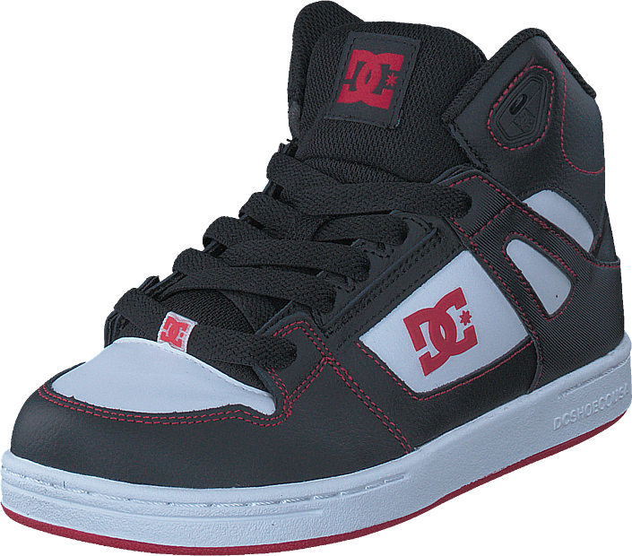 DC Shoes Pure High-top Black/Red/White