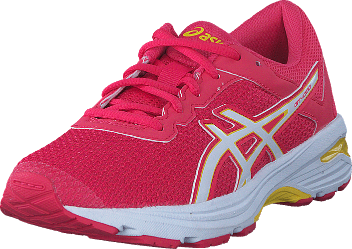 Asics Gt-1000 6 Gs Rouge Red/white/vibrant Yellow