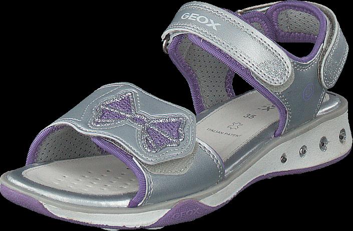 Geox - J Sandal Jocker Silver/lilac