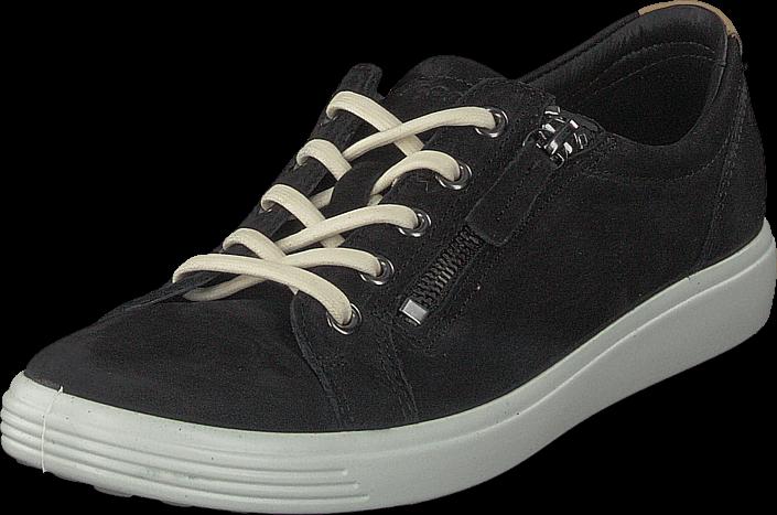 Ecco Soft 7 Black, Skor, Sneakers & Sportskor, Sneakers, Svart, Dam, 37