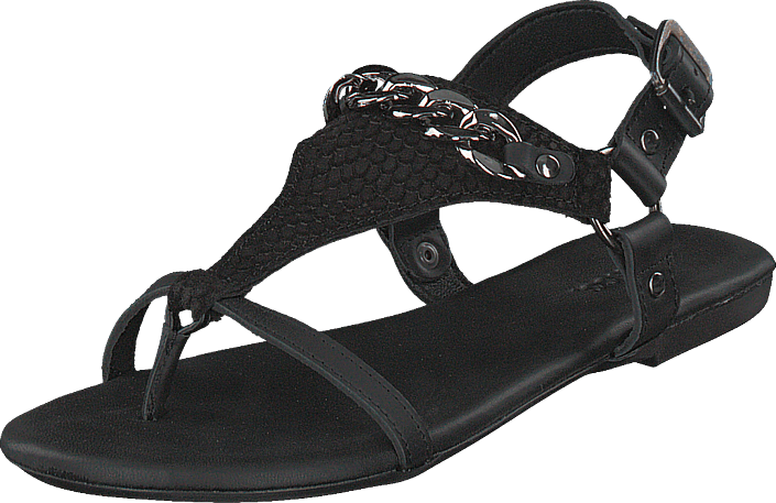 Bianco - Triangle Chain Sandal Black