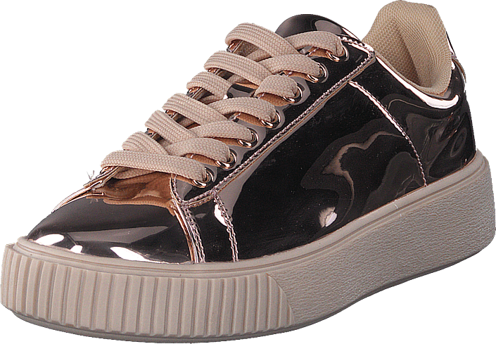 Bianco Laced Up Sneaker Bronze