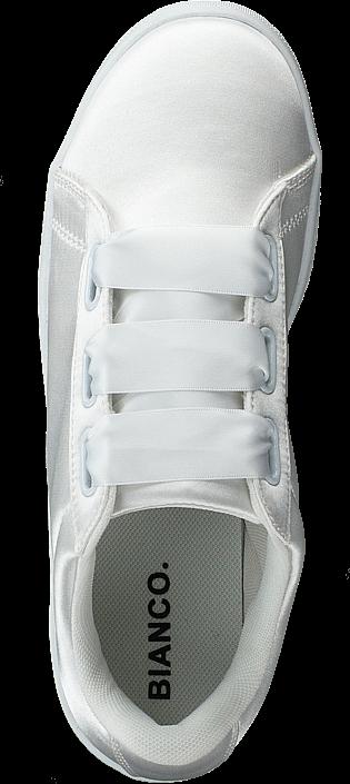 Bianco Satin Sneaker White