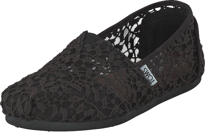 Footway SE - Toms Alpargata Black Lace Leaves, Skor, Lågskor, Slip on, Grå, Dam, 40 547.00