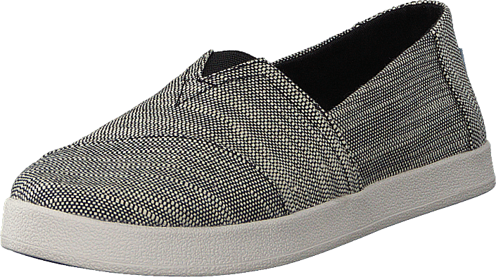 Toms - Avalon Black Slubby Cotton