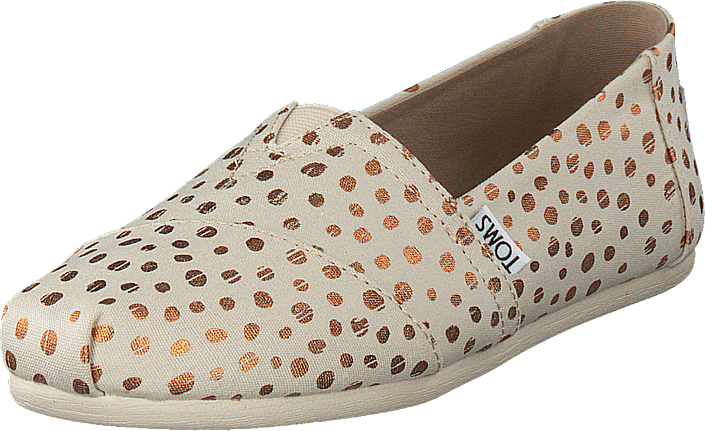 Toms Alpargata Rose Gold/natural Canvas Dots, Skor, Lågskor, Slip on, Beige, Dam, 41