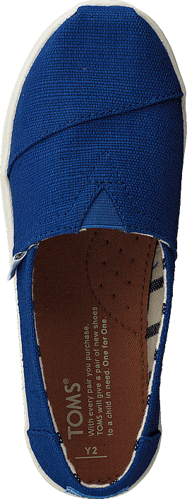 Toms - Alpargata Youth Classic Blue Heritage Canvas