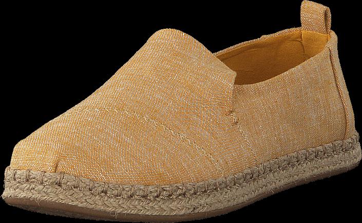 Toms - Deconstructed Alpargata Rope Mustard Slub Chambray