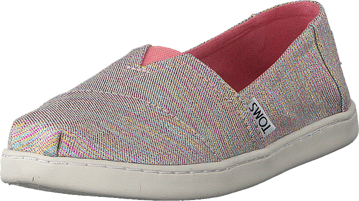 Toms - Alpargata Youth Pink Multi Twill Glimmer