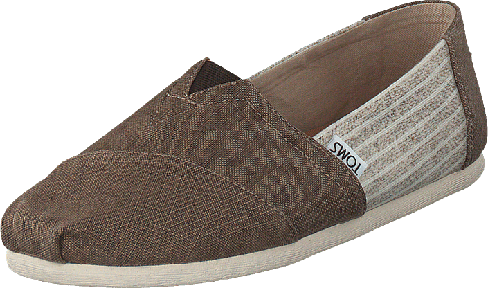 Toms - Alpargata Toffee Coated Linen/stripe