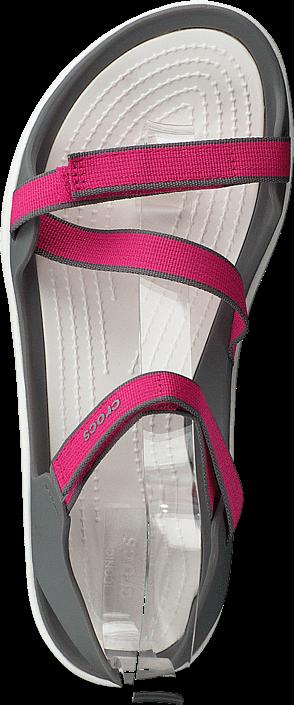 Crocs - Swiftwater Webbing Sandal W Paradise Pink/smoke