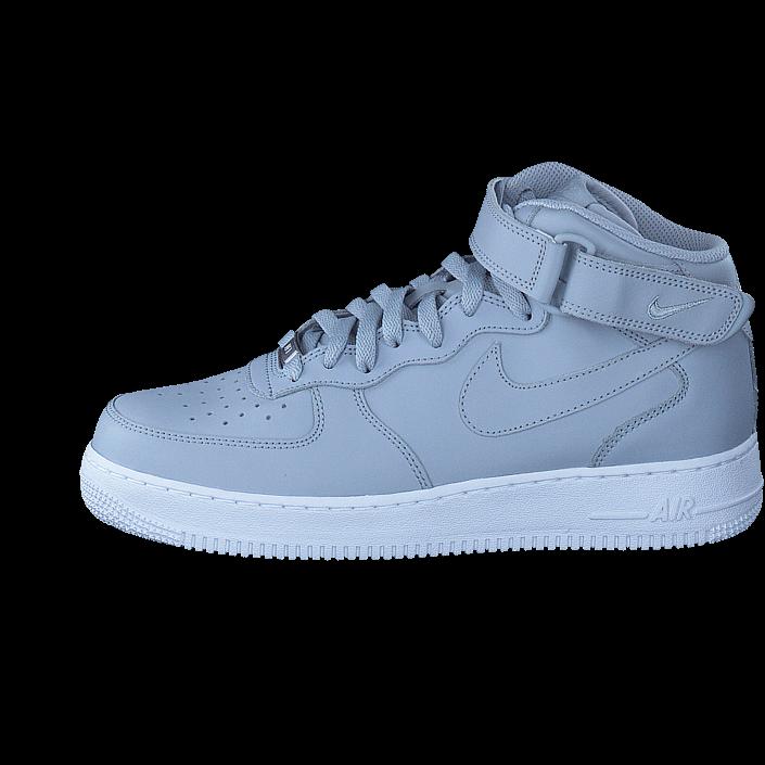 super cute f2956 05b84 Köp Nike Air Force 1 Mid  07 Wolf Grey wolf Grey-white gråa Skor Online    BRANDOS.se