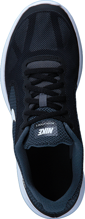 Nike Nike Revolution 3 Gs Dark Grey/white-black-pure Pla