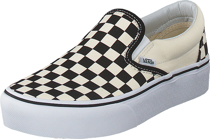 Vans - Ua Classic Slip-on Platform Black And White Checker/white