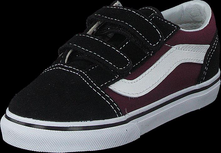 Vans - Td Old Skool V Pop Black/og Burgundy