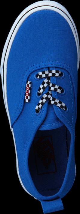 Vans - Uy Authentic Elastic Lace Check Lace Blue/twhite