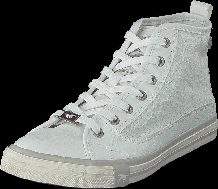 Footway SE - Mustang 1146507 White, Skor, Sneakers & Sportskor, Höga sneakers, Vit, Dam, 36 847.00