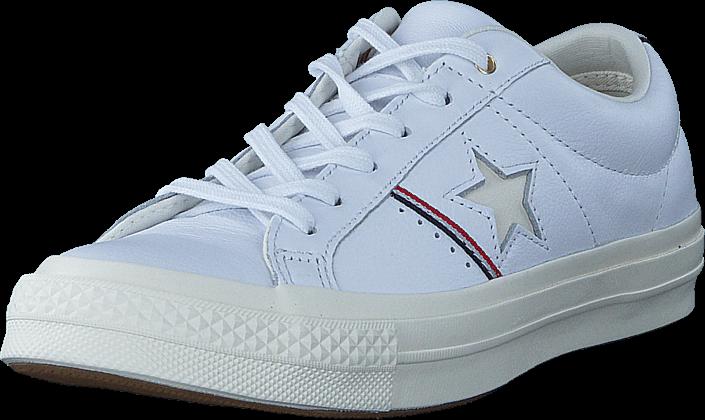 Footway SE - Converse One Star White/enamel Red/egret, Skor, Lågskor, Finskor, Vit, Unisex, 4 797.00