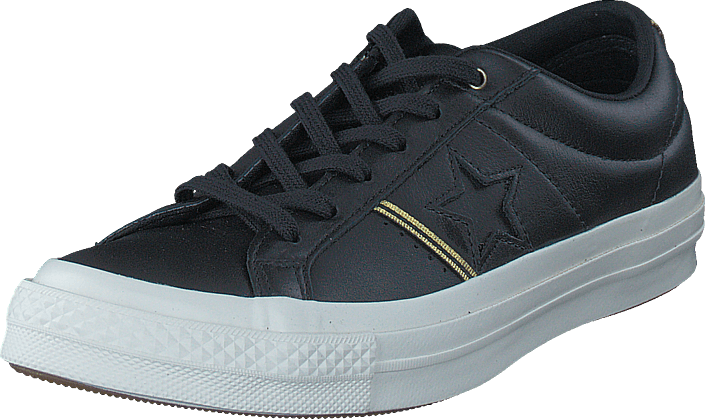 Converse One Star Black/gold/egret