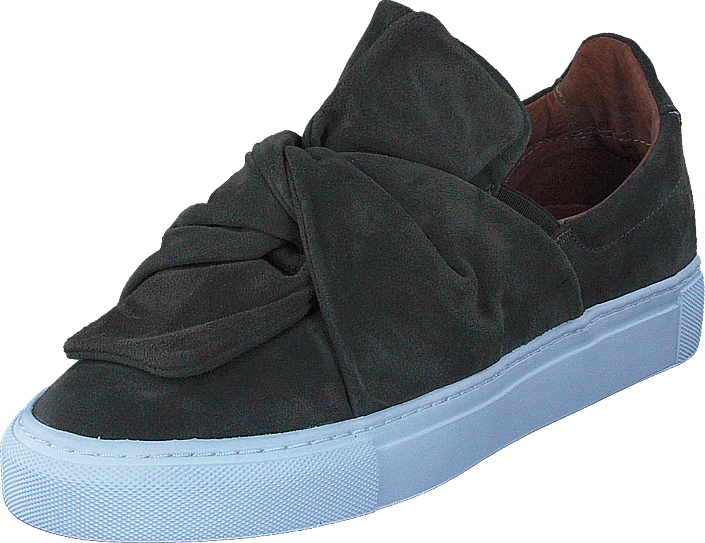 Pavement Ava Loop Green Suede