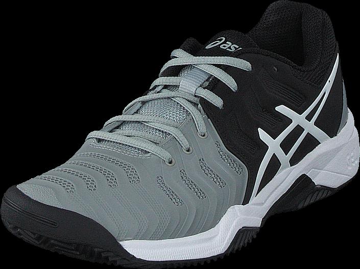 Asics - Gel-resolution 7 Clay Gs Mid Grey/black/white