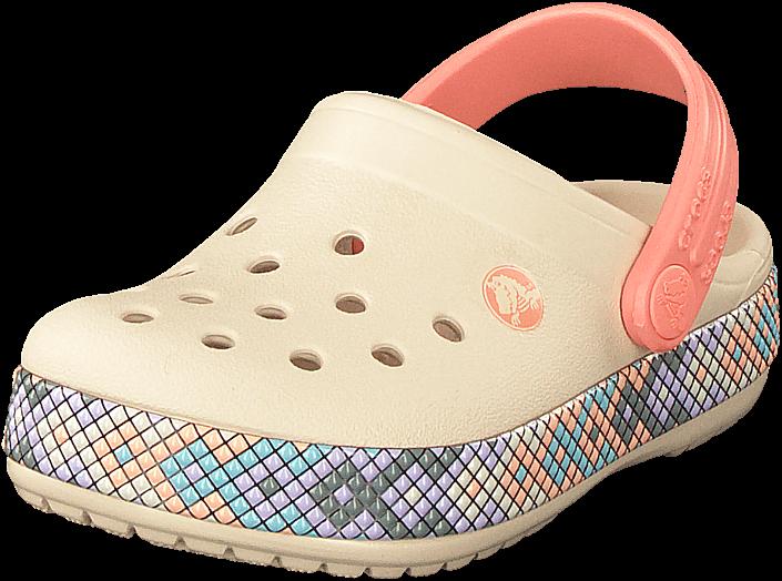 88e66b370fd Köp Crocs Crocband Gallery Clog Kids Stucco/melon Beiga Skor Online ...