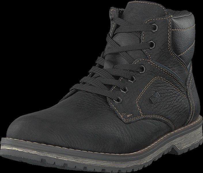 Rieker 39223-00 Schwarz, Sko, Boots, Kraftige støvler, Lilla, Herre, 40