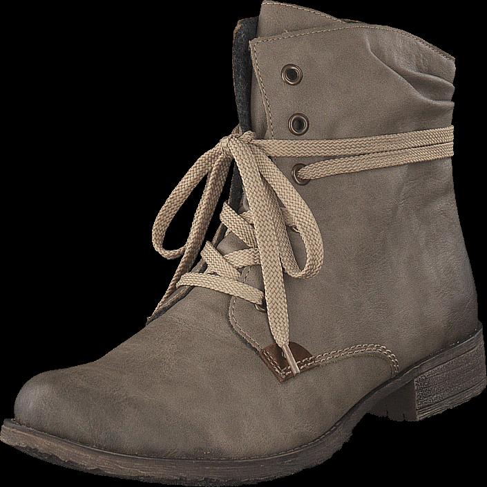 Rieker 70829-64 Kiesel, Sko, Boots, Curling boots, Brun, Dame, 36