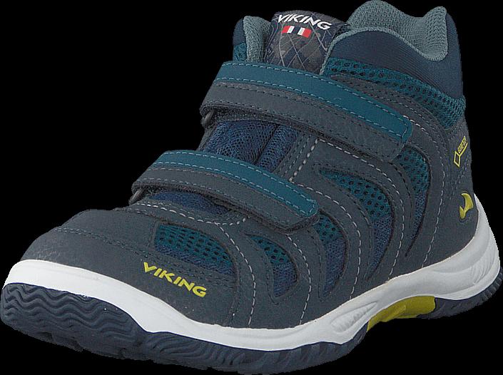 Footway SE - Viking Cascade Ii Mid Gtx Denim/lime, Skor, Sneakers & Sportskor, Höga sneakers, 897.00