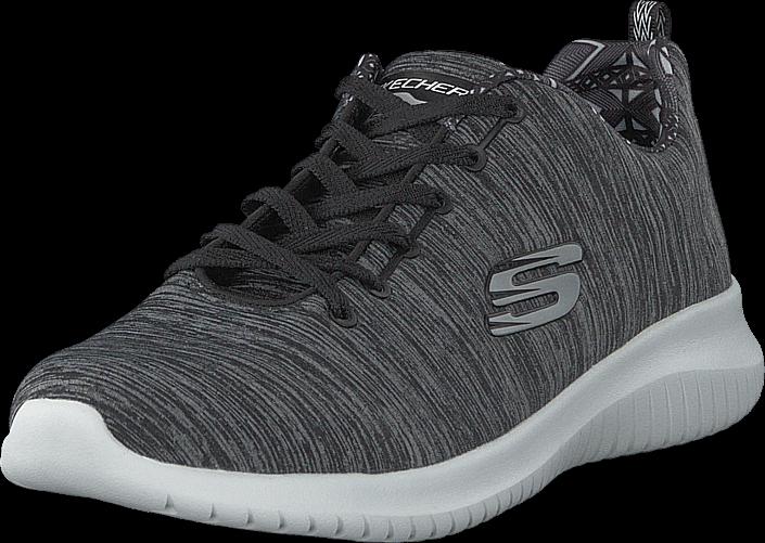 Skechers Womens Ultra Flex - Shoreline Bkw, Sko, Sneakers & Sportsko, Løpesko, Grå, Dame, 38