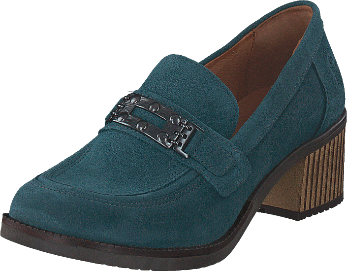 Footway SE - Fly London Lami303fly Oil Suede - Petrol, Skor, Klackskor, Pumps, Turkos, Dam, 4 1397.00