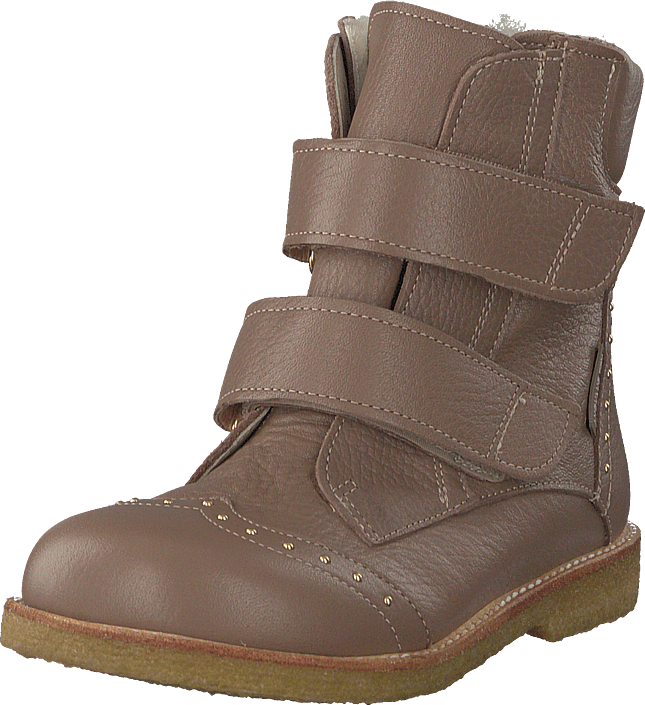 Footway SE - Angulus Tex-boot W. Velcro Straps Dusty Rose Brown, Skor, Kängor & Boots, Varmfo 1397.00