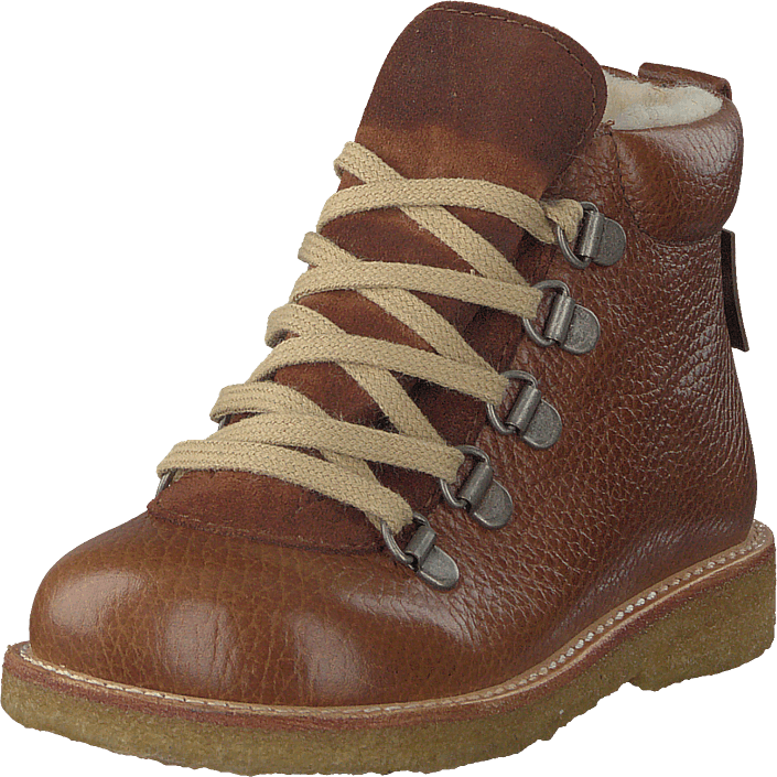 77e71871 enslig mor stønad Angulus Tex-boot With Zipper And Laces Medium Brown /  Cognac, Sko, Boots