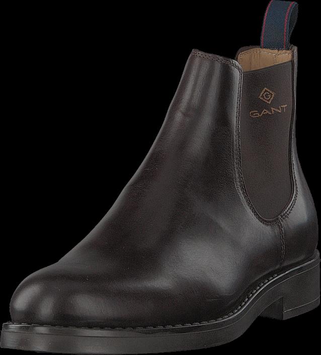 Gant Oscar Chelsea Dark Brown, Skor, Kängor & Boots, Chelsea Boots, Brun, Herr, 40