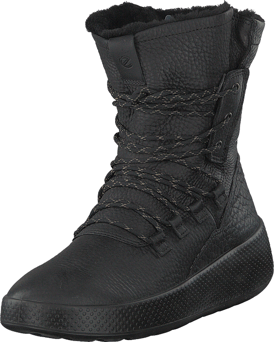Ecco Ukiuk Black, Sko, Boots, Høye boots, Svart, Dame, 36