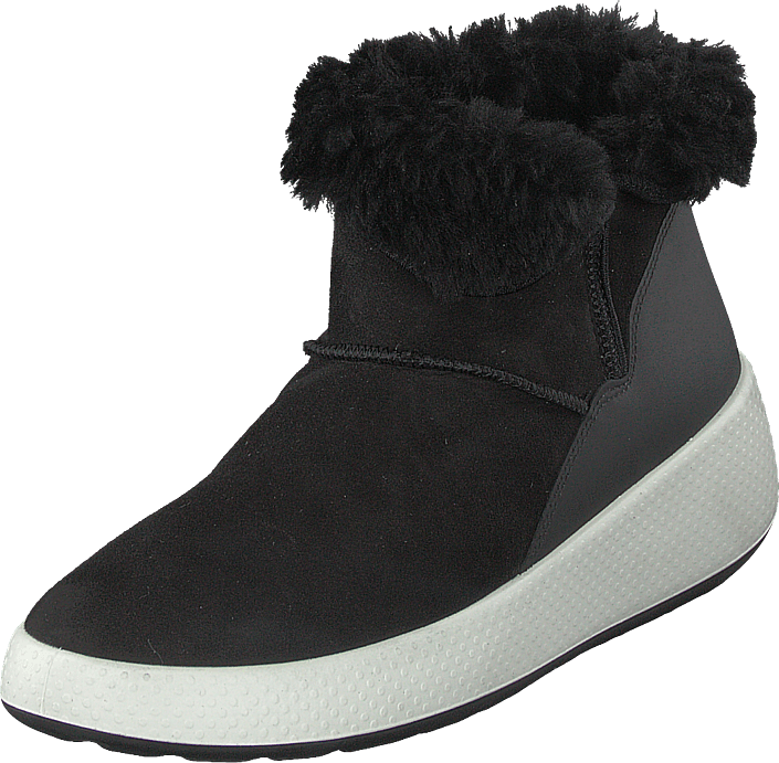Ecco Ukiuk Black, Sko, Boots, Varmforet boots, Svart, Dame, 36