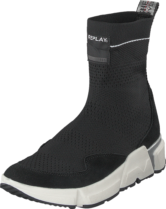 Replay Fantasy Black, Sko, Boots, Høye boots, Svart, Dame, 38