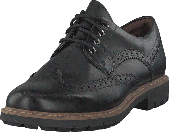 Clarks - Batcombe Wing Black Leather