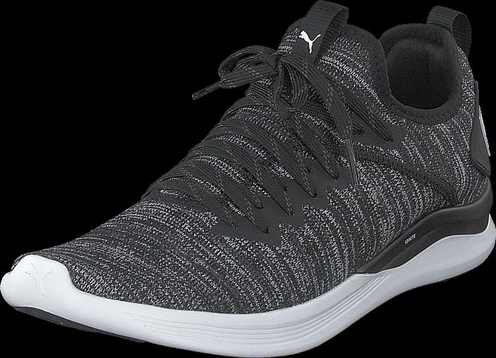 Puma Ignite Flash Evoknit Puma Black-asphalt-puma White, Sko, Sneakers & Sportsko, Løpesko, Svart, Herre, 41