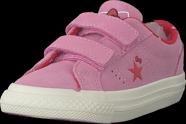 online store d7aa9 331f5 Converse One Star 2v Ox Prism Pinkfiery Red, Sko, Sneakers  Sportsko