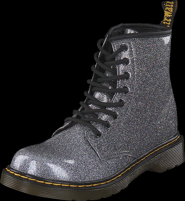 Dr Martens 1460 Glitter J Gunmetal, Sko, Boots & Støvler, Kraftige støvler, Lilla, Unisex, 33