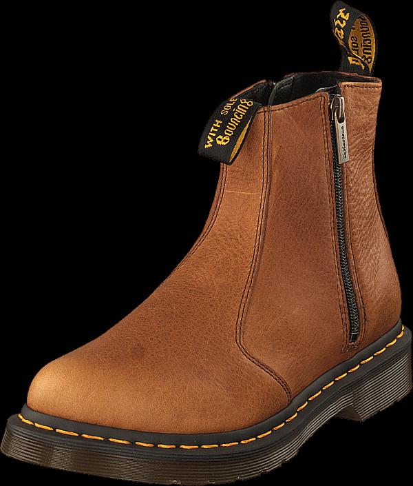 Dr Martens 2976 W/zips Tan, Sko, Boots & Støvler, Chelsea boots, Rød, Brun, Dame, 41