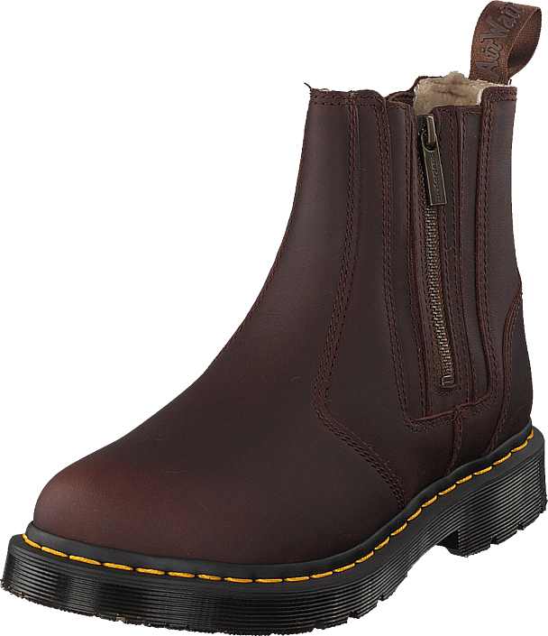 Dr Martens 2976 Alyson W/zips Dk Brown, Sko, Boots, Chelsea boots, Brun, Dame, 42