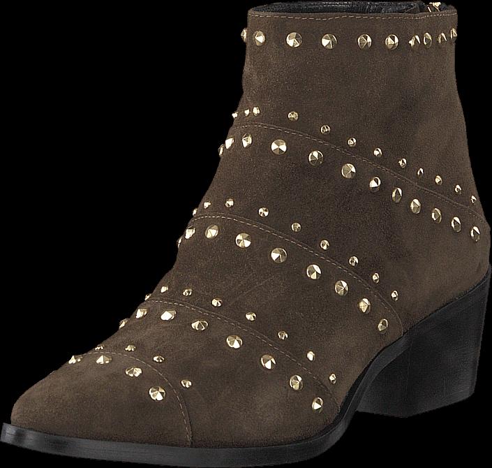 A Pair Rivet Flat Boot Softy Olivia, Rivets Oro, Sko, Støvler & Støvletter, Støvletter middelhøje, Brun, Dame, 41